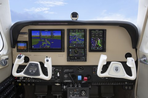 GTN 750Xi and GTN 650Xi in the panel of a Bonanza (Photo: Business Wire)