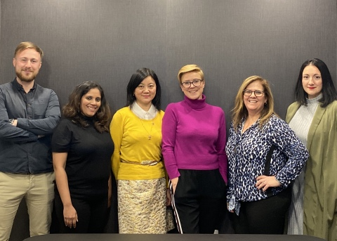 Founding members of the With Global Alliance include (from left to right), Oliver Budgen, Bold, Minal D'Rozario, Ideosphere, Sarah Li, WEdge, Debbie Zaman, With, Sandra Fathi, Affect and Joanna Derain, With (Photo: Business Wire)
