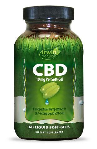 For those who want to try CBD but are concerned by the price, Irwin Naturals is offering a free bottle of its 10mg CBD soft-gels this January by using promo code FREECBD10. CBD Liquid Soft-Gels are one of the easiest ways to incorporate premium CBD into a daily health regimen and now adults can try it at no cost. (Photo: Business Wire)