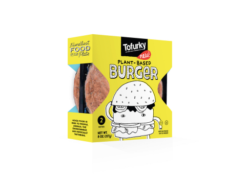 Hood River, Ore. (Jan. 8, 2020) – Tofurky's New Plant-Based Burger. Tofurky debuted Jan. 8, 2020 its new beef-style burger, now available in Target in the U.S. (Photo: Business Wire)