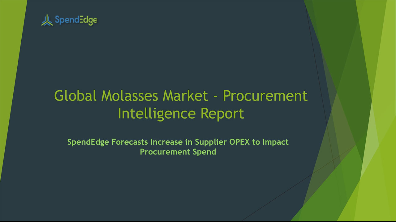 SpendEdge, a global procurement market intelligence firm, has announced the release of its Global Molasses Market - Procurement Intelligence Report.