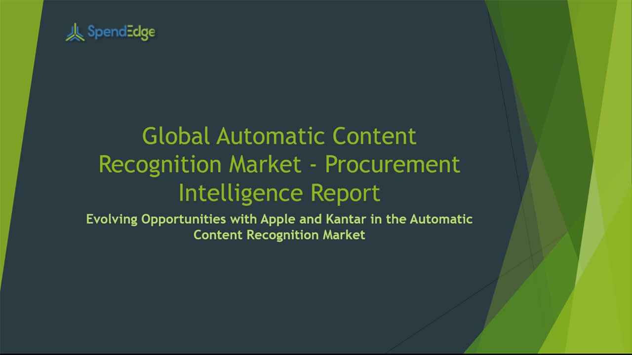 SpendEdge, a global procurement market intelligence firm, has announced the release of its Global Automatic Content Recognition Market - Procurement Intelligence Report.