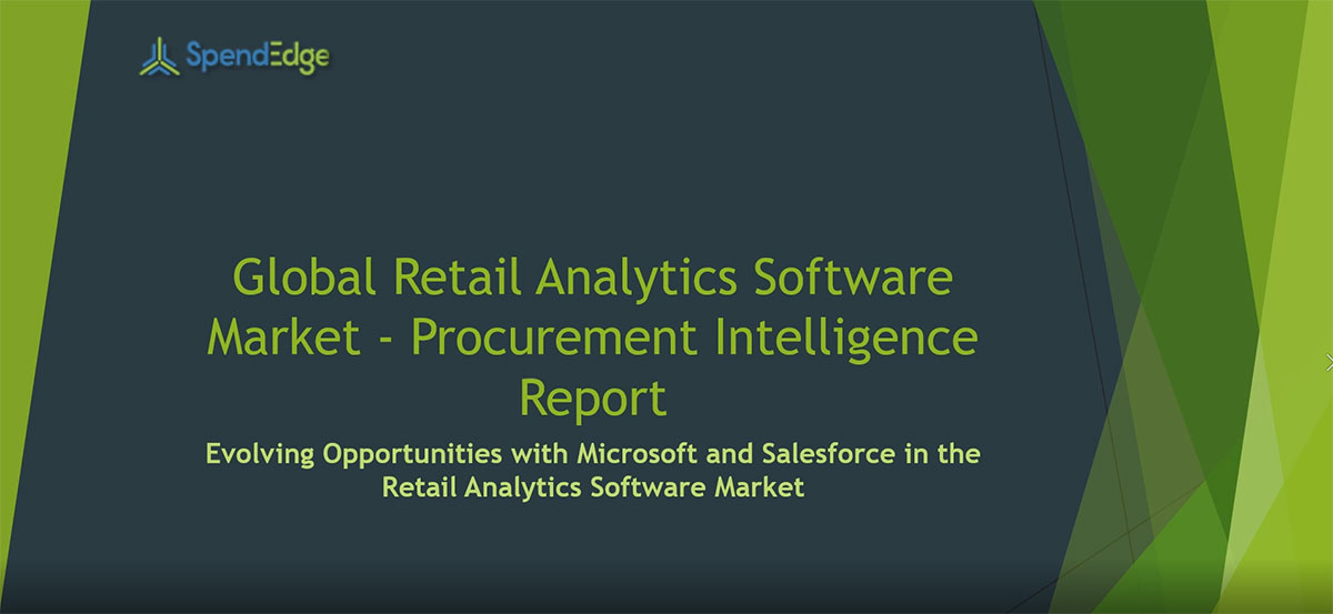 SpendEdge, a global procurement market intelligence firm, has announced the release of its Global Retail Analytics Software Market - Procurement Intelligence Report.