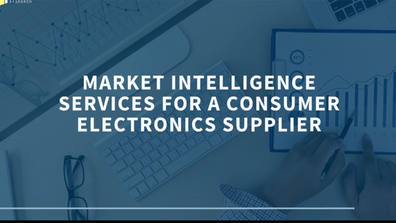 Custom market intelligence solution for a consumer electronics supplier.