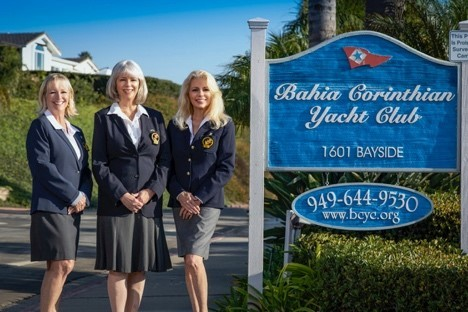 Bahia Corinthian Yacht Club's new Commodores for 2020, from left to right: Vice Commodore Rhonda Tolar, Commodore Ginny Lombardi and Rear Commodore Kari Konapelsky (Photo: Business Wire)