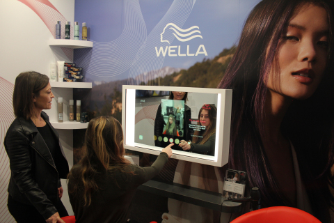 Wella Professionals debuts Smart Mirror at CES 2020 (Photo: Business Wire)