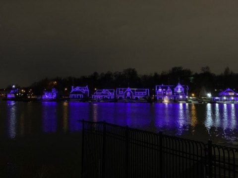 Philadelphia's Boathouse Row on Saturday, January 11th, in recognition of National Human Trafficking Awareness Day