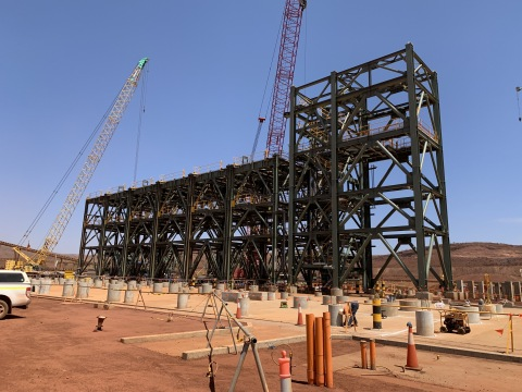 Iron ore handling plant in Pilbara region of Western Australia. (Photo: Business Wire)