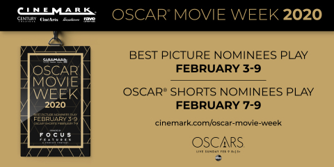 Passes On Sale Now for Cinemark's Annual Oscar® Movie Week Festival (Graphic: Business Wire)