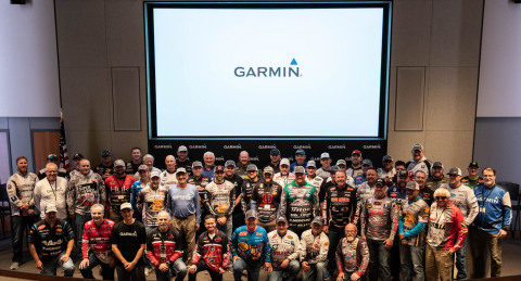 Nearly 80 professional bass, walleye, and crappie fishermen will represent Garmin in tournament circuits across North America, including the B.A.S.S., FLW and the Major League Fishing (MLF) tours, and on television shows across the country. (Photo: Business Wire)