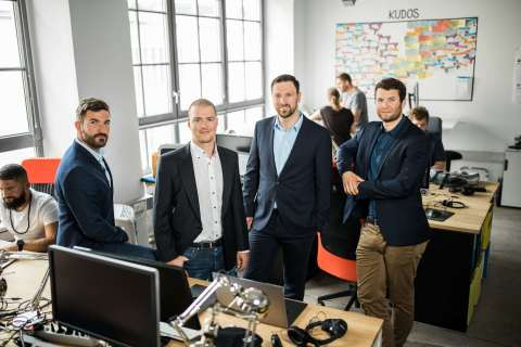 Anyline founders: David Dengg, Daniel Albertini, Lukas Kinigadner, Jakob Hofer (Photo: Business Wire)