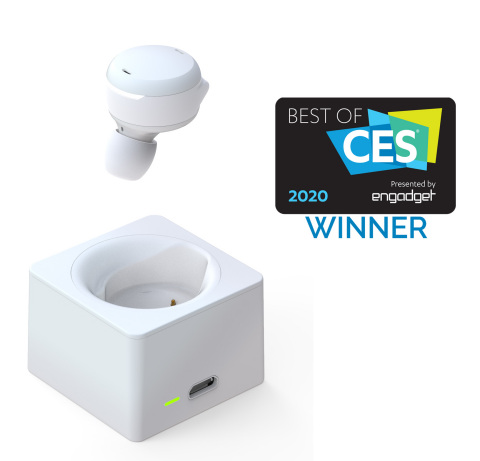 """Olive Union's Smart Ear won """"Best Wearable"""" in the International CES 2020 """"Best of CES Awards"""" based on innovation, quality of design, overall efficiency and market demand. The award-winning wireless earbud amplifies hearing without stigma and is now available for purchase on Amazon. (Graphic: Business Wire)"""