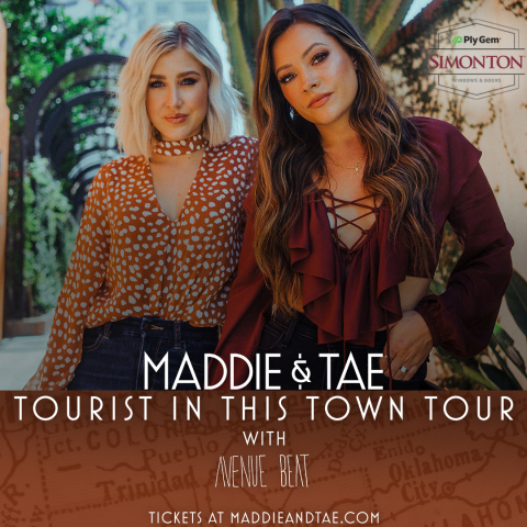 Simonton Windows & Doors, Part of the Cornerstone Building Brands Family, Sponsors Maddie & Tae TOURIST IN THIS TOWN TOUR (Photo: Business Wire)