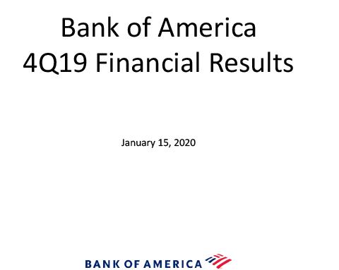 Q4 2019 Bank of America Investor Relations Presentation