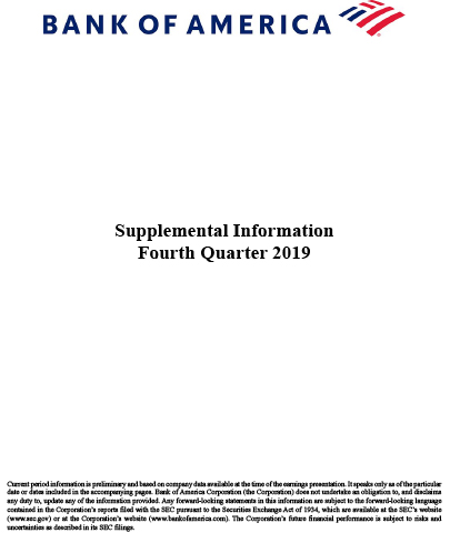 Q4 2019 Bank of America Supplemental Information