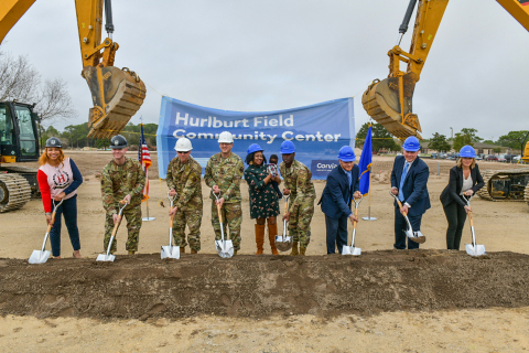 Corvias today broke ground on a new community center at Hurlburt Field in partnership with the United States Air Force (Photo: Business Wire)