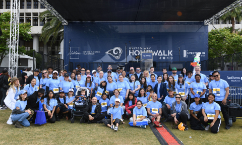 Conrad N. Hilton Foundation staff and their families at the 2019 United Way HomeWalk in downtown Los Angeles. (Photo: Business Wire)