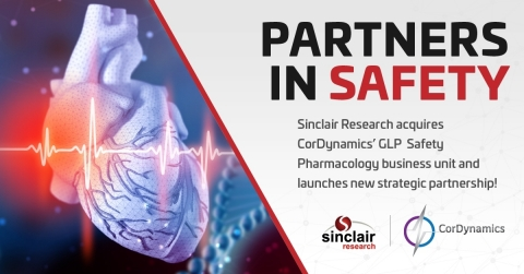Sinclair Research announces expansion into Safety Pharmacology Services with CorDynamics partnership (Photo: Business Wire)