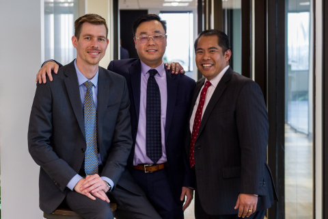 Miracle Mile Institutional team from left to right: Michael Treidl, Frank Lee and Gerard Tamparong (Photo: Business Wire)