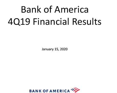 Q4 2019 Bank of America Investor Relations Presentation