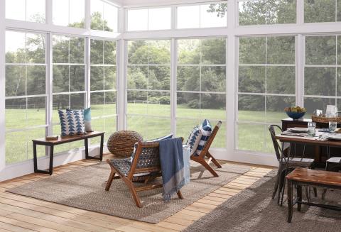 Eze-Breeze Vertical Four-Track porch enclosure product. (Photo: Business Wire)
