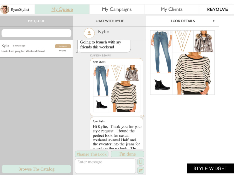 REVOLVE's Style Experts power their online conversations with shoppers with Snap+Style Business' curation and recommendation software for faster styling and more laser-focused looks. (Photo: Business Wire)