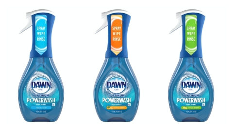 Dawn Powerwash Dish Spray in Three Scents - Fresh, Citrus, and Apple (Photo: Business Wire)