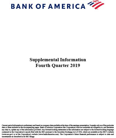 Q4 2019 Bank of America Supplemental Information