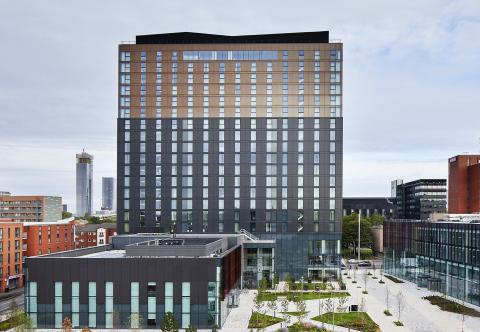 Hyatt Regency Manchester and Hyatt House Manchester Exterior (Photo: Business Wire)
