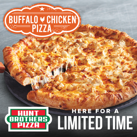 Hunt Brothers® Pizza, the number one branded pizza program in the convenience store industry, is excited to announce the return of Buffalo Chicken Pizza as a Limited Time Offering (LTO) this winter. Beginning today, the consumer favorite, Buffalo Chicken Pizza will be available to Hunt Brothers Pizza store partners while supplies last. (Photo: Business Wire)