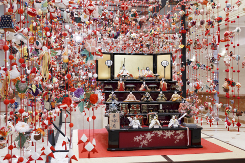 About 6,800 hanging ornaments, each one handmade from kimono and quilt fabrics, and tiered stand of dolls of the Emperor and Empress will be displayed to celebrate the traditional Hina-Matsuri, known as Girls' Day. (Photo: Business Wire)