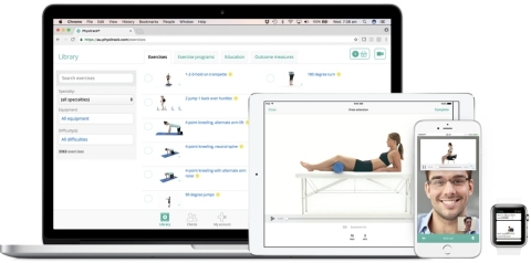 Physitrack's patient engagement solution uniquely combines Patient Engagement technology, Outcomes Data management and Telehealth, and was co-designed with Apple's Mobility Partner team. (Photo: Business Wire)