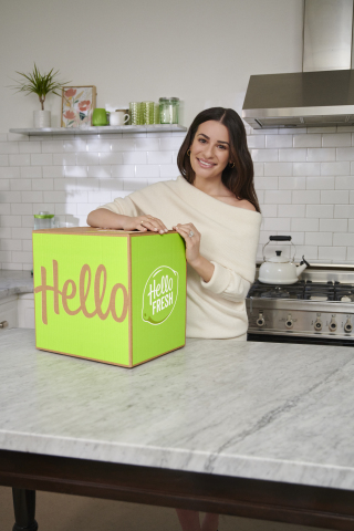 HelloFresh Teams up With Actress and Songstress Lea Michele To Promote Benefits of Cooking Delicious and Wholesome Meals at Home (Photo: Business Wire)