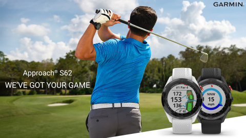 Introducing the Approach S62 premium golf smartwatch from Garmin (Photo: Business Wire)