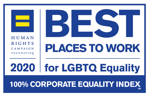 Dorsey is pleased to announce that it has received a 100% rating on the 2020 Corporate Equality Index. (Graphic: Human Rights Campaign Foundation)