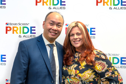 As leaders of Henry Schein's PRIDE & ALLIES employee resource group, Geoffrey Au, Manager, Medical eCommerce, and Renee Boyle-Gregorek, Director, Medical Surgical Portfolio Management, actively support Henry Schein's mission to promote an environment where diversity and inclusion thrives. (Photo: Business Wire)