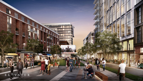 Elevator City Partner's redevelopment of the West End Mall will be a vibrant, walkable, transit-oriented, mixed-use district with public space and public art. (Photo: Business Wire)