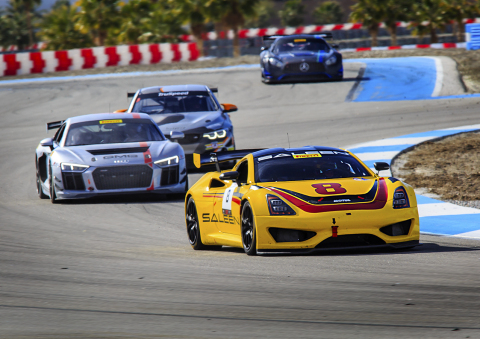 The Saleen 1 GT4 concept competes at Thermal Club in the SRO Winter Invitational Series, Sunday January 19, 2020. (Photo: Business Wire)