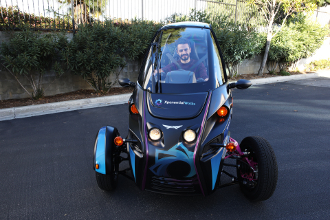 Test Driving Arcimoto's Lightweighted FUV @ XponentialWorks (Photo: Business Wire)