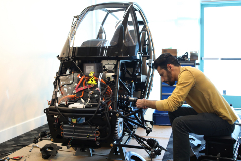 Assembling Arcimoto's Lightweighted FUV @ XponentialWorks (Photo: Business Wire)
