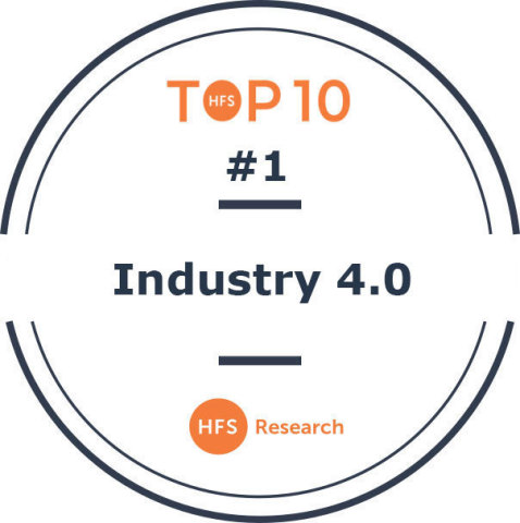 Accenture is ranked the no. 1 service provider for Industry 4.0 by HFS Research. © 2020 HFS Research