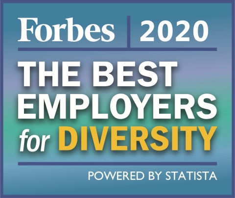 """Forbes recognized Vivint Smart Home as one of """"America's Best Employers for Diversity"""" in 2020, the second consecutive year Vivint made the list. (Graphic: Business Wire)"""