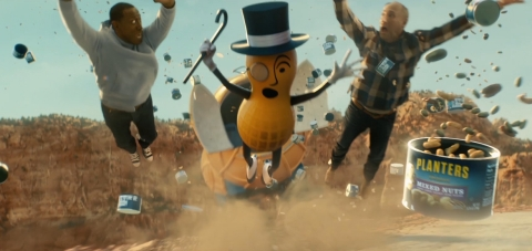 Wesley Snipes, MR. PEANUT and Matt Walsh star in PLANTERS nutty Super Bowl pre-game ad. (Photo: Business Wire)