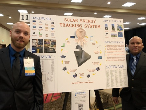 Two recent local DeVry University graduates, David Palmer and Janio Moreno, were honored with the People's Choice Award at the Institute of Electrical and Electronic Engineers (IEEE) Global Humanitarian Technology Conference (GHTC). (Photo: Business Wire)