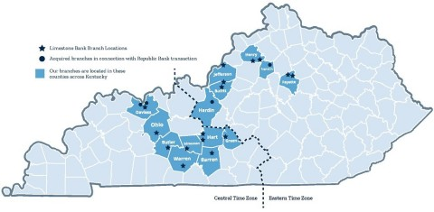 Limestone Bank Branch Locations (Graphic: Business Wire)