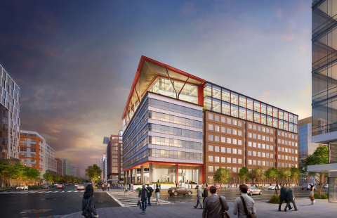 Columbia Property Trust will commence Washington, D.C.'s first commercial office mass timber construction project at 80 M Street and has pre-leased more than half the new space to the American Trucking Associations. Rendering by the architect, Hickok Cole. (Photo: Business Wire)