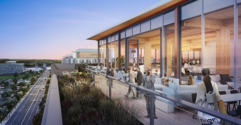 As part of its 105,000-square foot vertical expansion of 80 M Street in Washington, D.C., Columbia Property Trust will add more than 4,000 square feet of outdoor amenity space for tenant use. Rendering by the architect, Hickok Cole. (Photo: Business Wire)