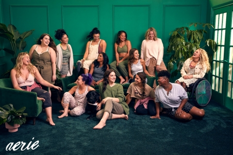 Aerie introduces Ali Stroker, Beanie Feldstein, Dre Thomas, Hari Nef, Keiana Cavé, Lana Condor, Manuela Barón and Tiff McFierce, alongside current Role Models Aly Raisman, Brenna Huckaby, Iskra, Jenna Kutcher and Molly Burke, in its #AerieREAL Role Model Spring '20 campaign. Photo Credit: Aerie / Andrew Buda