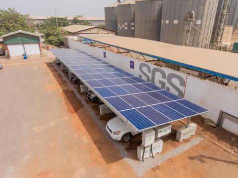 REDAVIA Solar Carport at SGS (Photo: Business Wire)