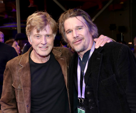 PARK CITY, UTAH - JANUARY 23: Robert Redford and Ethan Hawke attend Sundance Institute's 'An Artist at the Table Presented by IMDbPro' at the 2020 Sundance Film Festival on January 23, 2020 in Park City, Utah. (Photo by Rich Polk/Getty Images for IMDbPro)